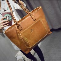 Women Vegan Leather Bags Large Capacity Handbag Tote Hobo Shoulder Satchel Bag