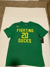 Nike Oregon Ducks #20  Basketball Shirt Tee Men's Apple Green NWT