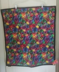 FIREWORKS HAND MADE LAP QUILT