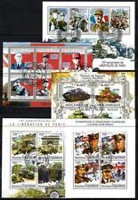 2ème Guerre Mondiale lot de 10 séries oblitérées en feuillet