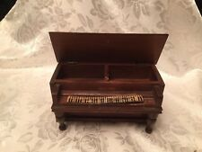 Vintage wooden piano music box