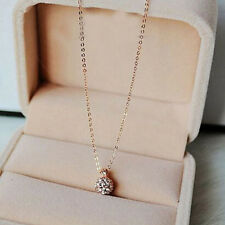 gold tone Rhinestone crystal Ball Pendant chain Necklace Statement xmas Jewelry