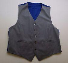 X157 homme gris/bleu gilet taille 40