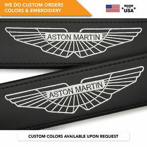 Seat Belt Covers Shoulder Strap Pads Custom Made Fits Aston Martin White 2PCS