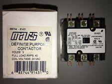 Mars 91431 Definite Purpose Contactor 3-Pole Full Load Amps 40 Coil 24v