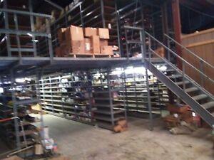 Industrial mezzanine 51' x 55' w/2 sets of 7' stairs
