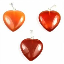 großes Herz Anhänger Carneol / Karneol Länge ca. 28 mm  Breite ca. 20 mm + Öse A
