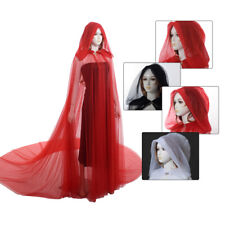 Women Wedding Cape Cloak Long Cloak Fancy Dress With Hooded Halloween Christmas