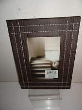 BROWN FAUX LEATHER PICTURE FRAME-BRAND NEW