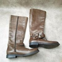 Matisse Womens Britain 17315 Sz 6.5 M Brown Leather Knee High Tall Riding Boots