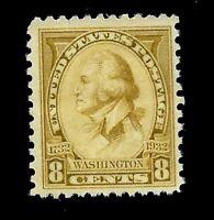 US 1932 Sc# 713 8 c Washington Bicentennial Mint NH - Vivid Color - Centered