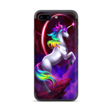 Apple iPhone 7 / 8 Plus Skins Decal Wrap Unicorn Rainbows Space