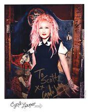 CYNDI LAUPER autographed 8x10 color photo     GIRLS WANNA HAVE FUN      To Scott
