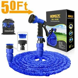 """HOMOZE Expandable Garden Hose Pipe 50FT Garden Hose with 3/4"""", 1/2"""" Fittings,"""