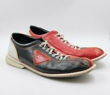 Mens AMF Black Red Leather Bowling Shoes Size 15