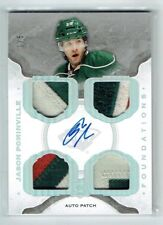 14-15 UD The Cup Foundations  Jason Pominville  1/5 First Card Auto Quad Patches