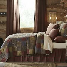 Twin Size Quilt Cedar Ridge Country Patchwork Cotton-Quilted Bedspread Comforter