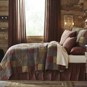 Oversized King 3 Pc Quilt Set Cedar Ridge Farmhouse Patchwork Cotton Comforter