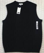 Turnbury Men's Black BIELLA Sweater Vest Size XLT Tall V-neck
