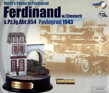 DRAGON ARMOUR 1/72 MILITAIRE TANK CHAR FERDINAND + DIORAMA Pavlograd 1943 60202