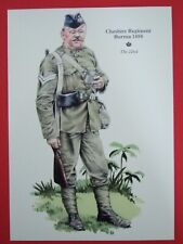 MILITARY POSTCARD-  THE 22ND-CHESHIRE REGIMENT BURMA 1888 BY ROB CHAPMAN