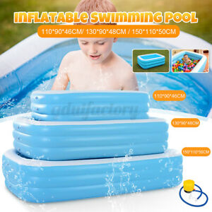 Large Family Inflatable Swimming Pool Garden Outdoor Summer Baby Kids Paddling