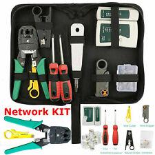 RJ45 Cat5e Cat6 Cat7 Crimper Network Ethernet Cable Tester Crimping Tool Kit Set