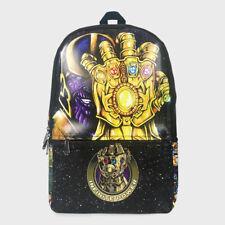 Marvel Avengers Thanos Leather Sports Shoulder Backpack School Bag Cool Gift