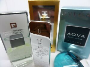 PACO RABANNE Eau~1 Million ~BVLGARI MEN edt MINI Miniature PERFUME Fragrance SET