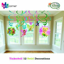 TINKERBELL PARTY SUPPLIES 12 SWIRL HANGING PARTY DECORATIONS PACK