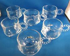 Hazel Atlas Ball and Rib Cups Punch Cups Square Bottom Set of 6 NIB @1B