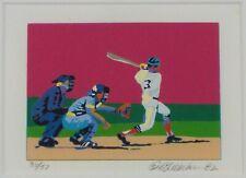 Vintage Original 1982 Serigraph of Baseball by Daryl Walker Listed