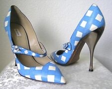 Marc Jacobs - Beautiful Mary Janes Pump Heels Blue and White Vicky 39 (=US 8)