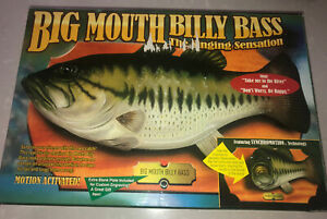 New In Box/ Never Used- Big Mouth Billy Bass - The Singing  Sensation