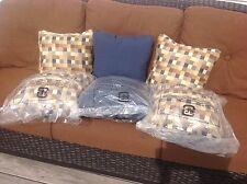 Sunbrella Outdoor Pillows New, 6 Pillows Total, Very Nice!!!