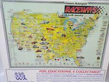 "Famous Motorsport Raceways Artmap Jigsaw Puzzle 550 Pieces 18""x24"" New NIB"