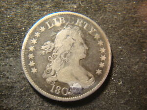 1805 F VF Draped Bust Quarter Holed and Repaired Bold Look NJX