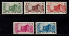 Martinique Stamp # B3 - B7, MHOG, VVF, 1939, semi postal, BOB, SCV $52.50