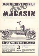 Motorhistoriskt Magasin Annons Swedish Car Magazine 3 1983 Opel 032717nonDBE