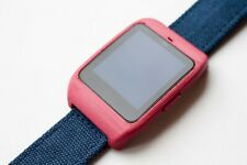 Sony SmartWatch 3 SWR-50 housing/adapter with blue canvas strap