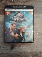 Jurassic World Fallen Kingdom Bluray 4K Ultra HD Universal Studios Bonus Feature