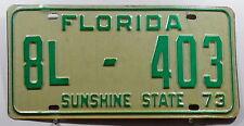 """USA Nummernschild Florida """"SUNSHINE STATE"""" von 1973. 9356."""
