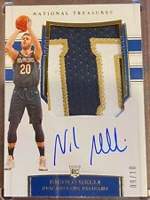 2019-20 National Treasures Nicolo Melli  RPA RC *2 LETTER PATCH /10!!* Pelicans