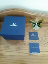 Swarovski Crystal Anamosa Green Butterfly with Base & Certificate Rectangle Box