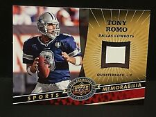 TONY ROMO 2009 Upper Deck 20th PROOF For Jersey Card BLANK Back SP Rare COWBOYS