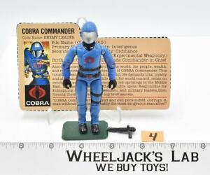 Cobra Commander #4 V1.5 Swivel Arms 100% Complete 1983 GI Joe Hasbro