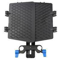 Matte Box 15mm Rail Rod Support Follow Focus For DV DSLR D90 60D 600D 5D II GH2