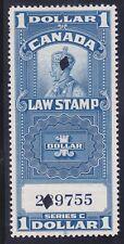 Canada FSC18 Used 1935 $1 KGV Supreme Court Law Stamp Revenue VF-XF