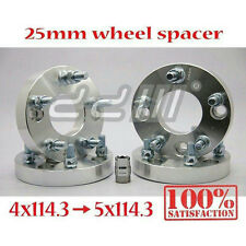 4x 25mm Alloy Wheel Spacer Adapter m12 x 1.5 / 4x114.3 TO 5x114.3 4x4.5 to 5x4.5