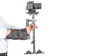 Flowcam 2000 DSLR Handheld Camera Stabilizer Steadicam +Quick Release ,Arm Brace